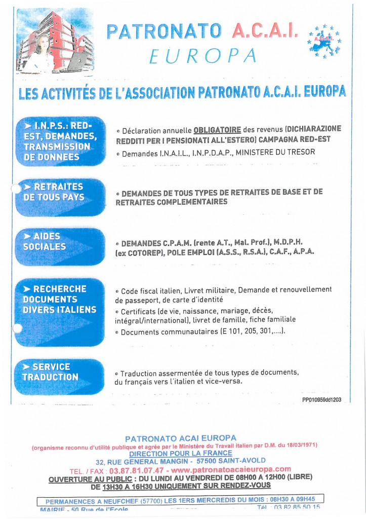 patronato-activités