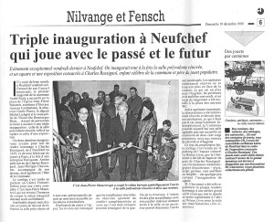 Charles Jacques Rossignol  triple-inauguration