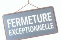 FERMETURE EXCEPTIONNELLE DE LA MAIRIE LE 15 MAI