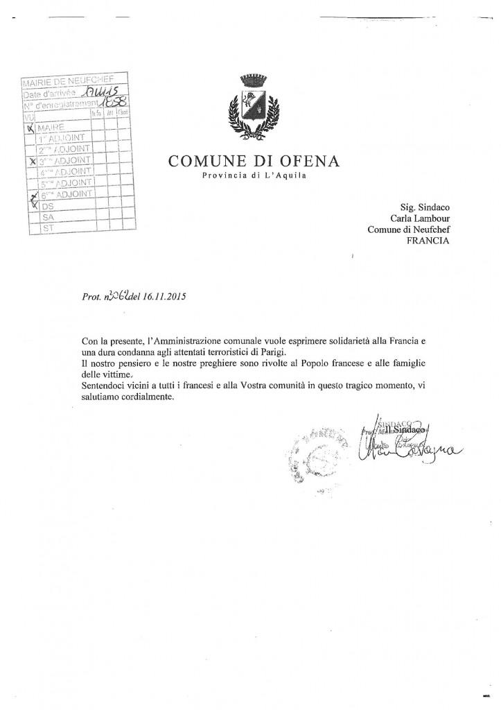 lettre soutien ofena