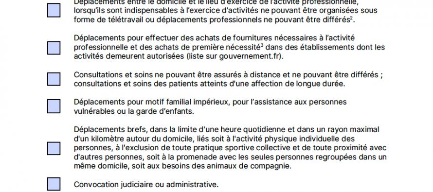 [COVID-19]  ATTESTATION DE DEPLACEMENT