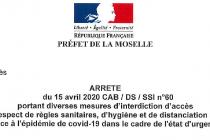 Nouvel arrêté préfectoral du 15 Avril 2020