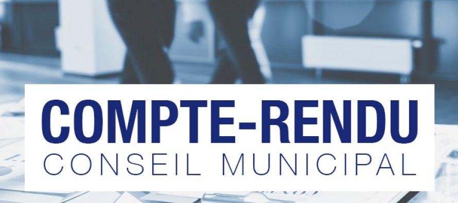 LES COMPTES RENDUS DES CONSEILS MUNICIPAUX